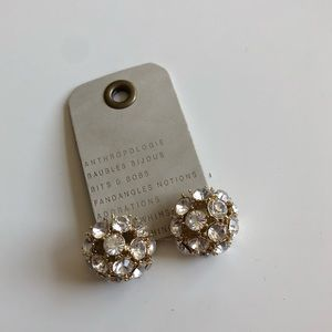 NWT Anthropologie crystal ball earrings